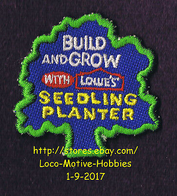LMH PATCH Badge SEEDLING PLANTER Vegetable Tree LOWES Build Grow Clinic Workshop