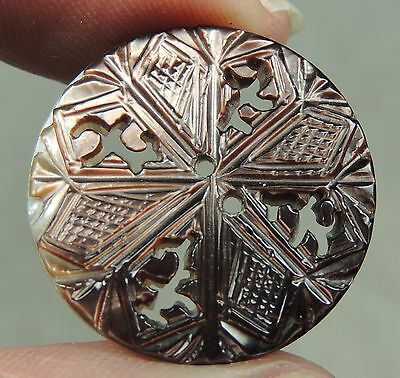 Carved Mop Pearl Shell Button