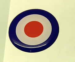 Lambretta Vespa Mod Target Dome Round Sticker Gel Badge x 4