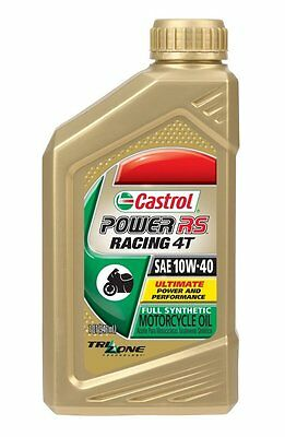 Castrol Power RS Racing 4T 10w-40 Full Synthetic Motorcycle Oil, 1 qt