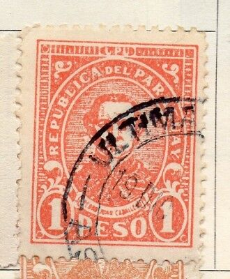 Paraguay 1927-30 Early Issue Fine Used 1P. 125249