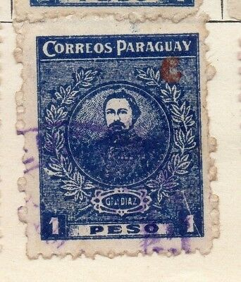 Paraguay 1924 Early Issue Fine Used 1P. Optd 125277