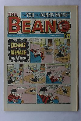 The Beano #1899 Dec 9th 1978 FN Vintage Comic Bronze Age Dennis The Menace