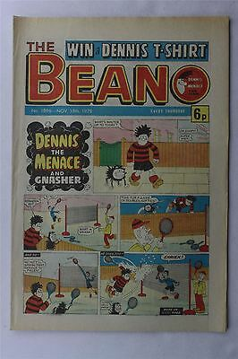The Beano #1896 Nov 18th 1978 FN Vintage Comic Bronze Age Dennis The Menace