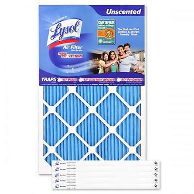 Lysol Brand 16 x 25 x 1 Allergenic Triple Protection Air Filter (6-Pack)