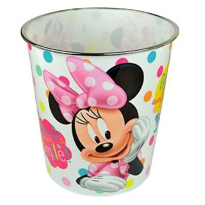 Zbinmi Minnie Mouse Waste Paper Bin - Wholesale Pack Of 12 - Reduced