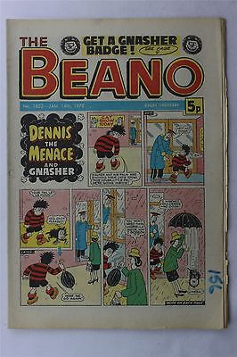 The Beano #1852 January 14th 1978 FN Vintage Comic Bronze Age Dennis The Menace
