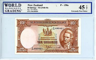 New Zealand ... P-158a ... 10 Shillings ... ND(1940-55) ... *Ch XF-AU*