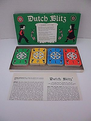 Vintage 1973 Pennsylvania Dutch Blitz Card Game Complete Instructions