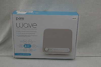 Wave Premium Sleep Therapy Sound Machine Soothing All-Natural Sounds CR10