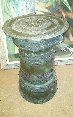 Antique Asian Thai Bronze Rain Drum