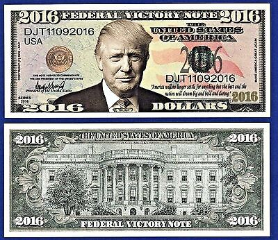 Set-of-9 different Donald-Trump  Bills-Presidential W/ clear protector sleeves