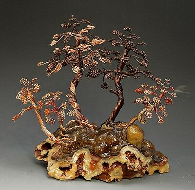 Forest Bonsai Style Copper Wire Tree Art Sculpture  - 2241