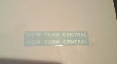 White Letter Water Decals: Lionel Nyc 2689-2666W Sloped Back Tender 2/set Look!