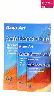 Reno Art Artist Canvas Pad 10 Sheet Drawing Sketching Choose From A5 A4 A3 CPAD