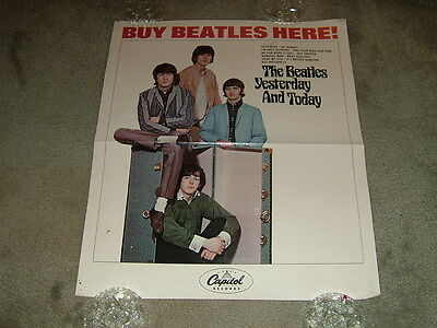 Beatles 1966 Yesterday & Today Trunk Cover In-Store Promo Poster