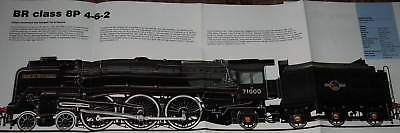 LOOK! BR CLASS 8P 4-6-2 STEAM LOCOMOTIVE POSTER picture print engine train