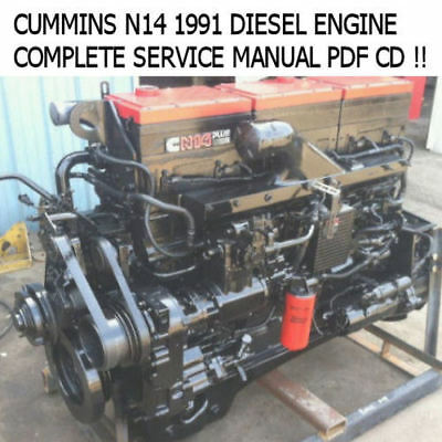 BEST CUMMINS N14 CELECT Plus DIESEL ENGINE Shop Service