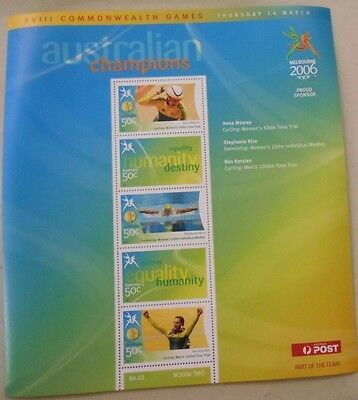 """2006 MELBOURNE XVIII COMMONWEALTH GAMES STAMP SHEETLET """" SHEET No2 """""""