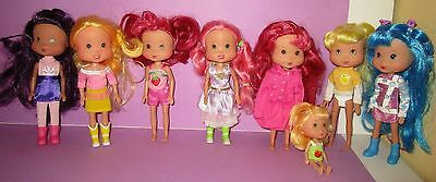 Huge Strawberry Shortcake SSC Playmates Ginger Watermelon Banana Outfit Doll Lot