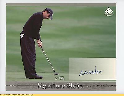 2005 SP Signature Shots #SHW2 Mike Weir READ Auto Autographed Golf Card 3t1