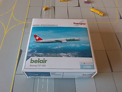 Herpa Wings 510226 Belair 757-200  Exclusive for in-flight sales Limited edition
