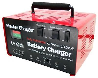 Fully Automatic 6/12Volt -2/15 Amp Battery Charger & 100 Amp Engine Starter