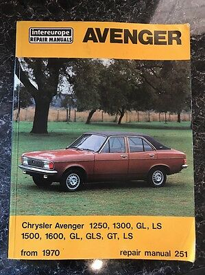 VINTAGE 1970's HILLMAN AVENGER CAR REPAIR MANUAL BOOK CHRYSLER