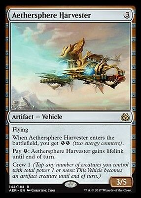 Mietitore dell' Etersfera - Aethersphere Harvester MTG MAGIC AER Eng/Ita