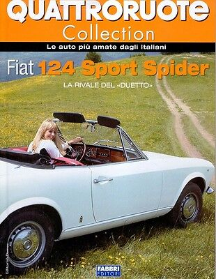 rare book FIAT 124 spider  - 50 pages hard cove