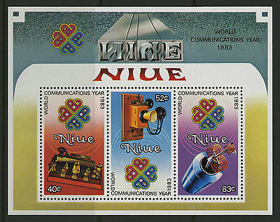 Niue 1984 World Communications Year MS MNH