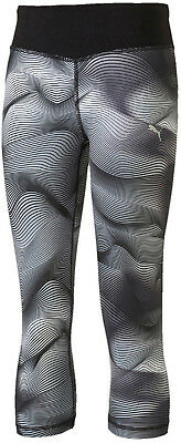 Puma Active Dry Girls 3/4 Capri Running Tights - Black