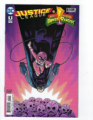 Justice League Power Rangers # 1 Batman Pink Ranger Cover NM