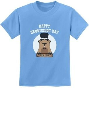 Happy Groundhog Day Groundhog Day Youth Kids Long Sleeve T-Shirt Gift Idea