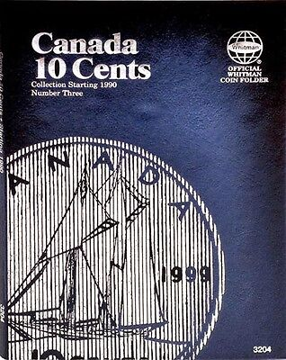 New 3204 Whitman Canadian Coin Folder CANADA 10 Cents 1990-2010 Number 3, Album
