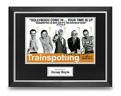 Danny Boyle Signed Photo Framed 16x12 Trainspotting Poster Autograph Memorabilia