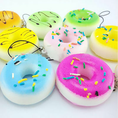 Keychain Straps Mini Cute Cellulare Cinghie Kawaii Pop Soft Donuts Pane Bread