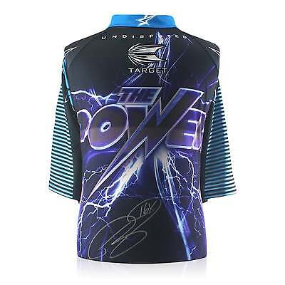 Phil The Power Taylor Signed 2015 Darts Shirt Autographed Sports Memorabilia