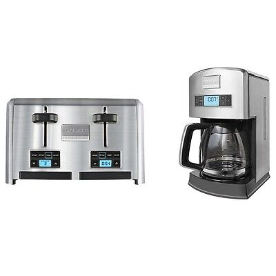 Frigidaire Professional 4-Slice Wide Slots Toaster + 12-Cup Drip Coffee Maker