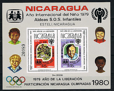 Nicaragua Jahr Des Kindes 1979 Year Of The Child 1980 Olympia Block 110