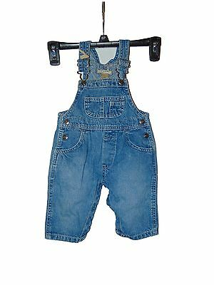 Pre Owned Arizona Jeans Jean Bib Overalls Size 3-6 Months