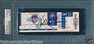 Joe Maddon Signed Cubs Nlcs 10/20/15 Game 3 Ticket Psa/dna Auto #83874452