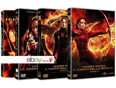 HUNGER GAMES - LA COLLEZIONE COMPLETA (4 DVD) Jennifer Lawrence, Josh Hutcherson