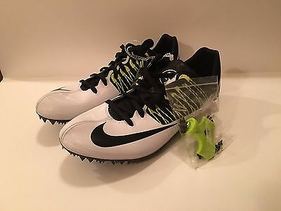 Nike Zoom Celar 5 Track Spike Shoes 629226 White Volt Mens Size 11.5 W/tool, Bag