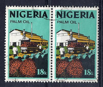 NIGERIA = 1973 18k NEW CURRENCY SG285. VERY FINE USED pair (a)