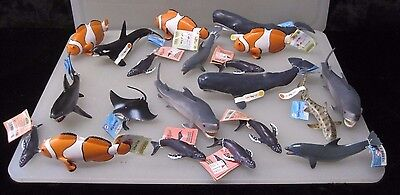 (20) Safari Limited Wales - Sharks - Dolphins - Ocean Sea Life Figures A5930