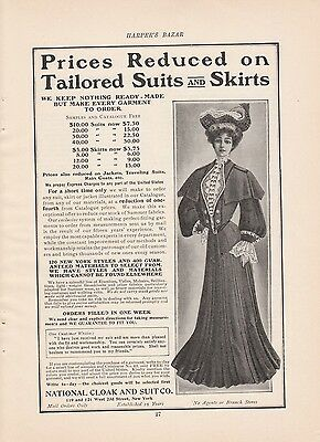 1904 National Cloak and Suit Co New York NY Ad Prices on Tailored Suits & Skirts