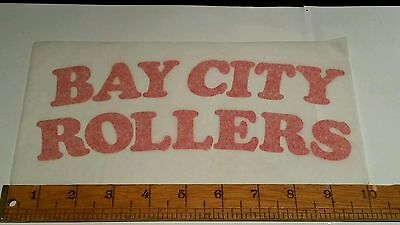 VINTAGE/RETRO BAY CITY ROLLERS IRON ON T-SHIRT TRANSFER PRINT OLD SHOP STOCK 70s