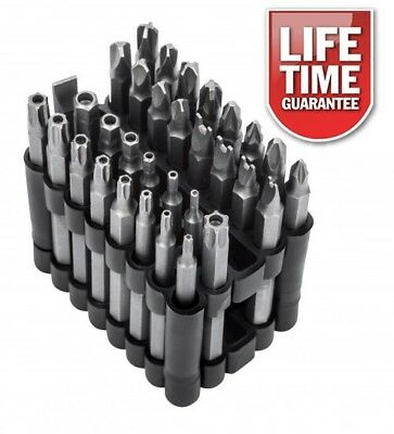 Long Security Torx Hollow End 75Mm Screwdriver Bit Set 32Pc With Holder Freepost