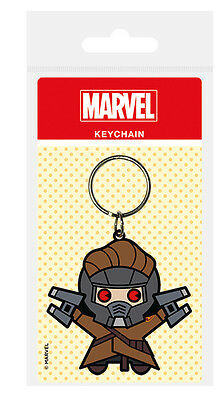 Marvel Kawaii Guardians of the Galaxy - Star Lord Rubber Keychain - New.